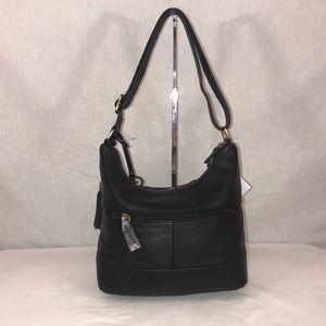 Giani Bernini Bags - Giani Bernini Pebble Weave Black Leather Tote
